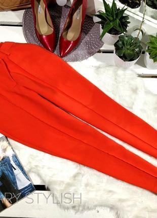 Крутые брюки оранжевые bik bok