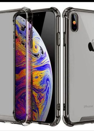 Чехол-бампер на iphone, прозрачный силиконовый чехол-накладка для iphone xs
