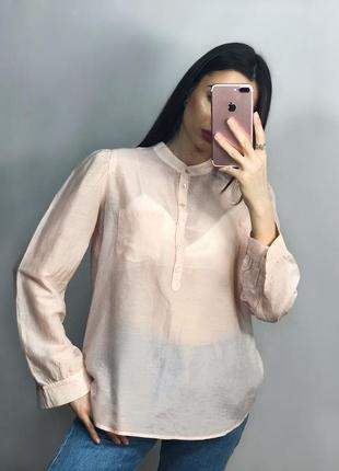 Розпродаж! легенька персикова блуза котттонова сорочка кофта