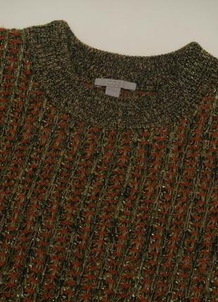 Cos рр s свитер из шерсти с металлической пряжей