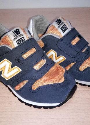 Оригинальные кроссовки на липучках new bance для мальчика 14 см 23 размер