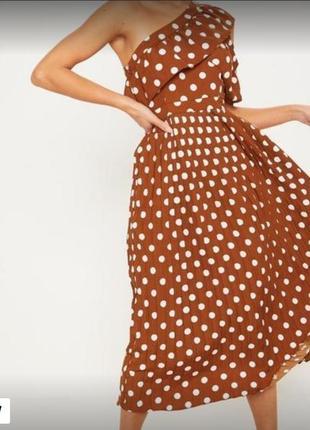 Красивое длинное платье в горох плиссе 16ххл