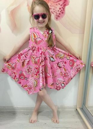 Красивое летнее платье для девочки. сарафан.