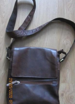 Мужская кожаная сумка - планшет ava.