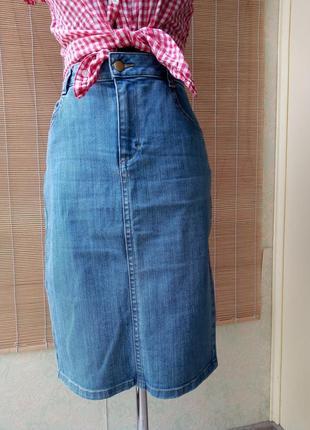 Базовая джинсовая юбка карандаш