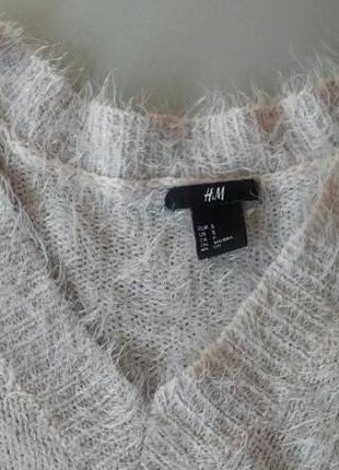 Удлиненный свитер-травка пастельного цвета h&m s