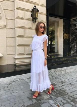 Нарядное белое платье альмерия