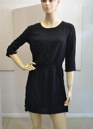 Платье черное h&m