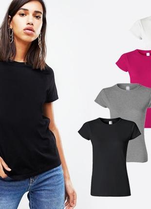 Комплект базовых однотонных футболок 100% хлопок размеры