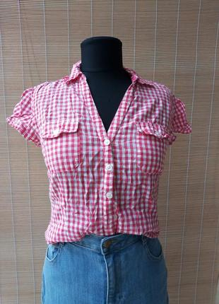 Рубашка с коротким рукавом в клетку