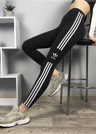 Лосины adidas, оригинальные чёрные лосины adidas