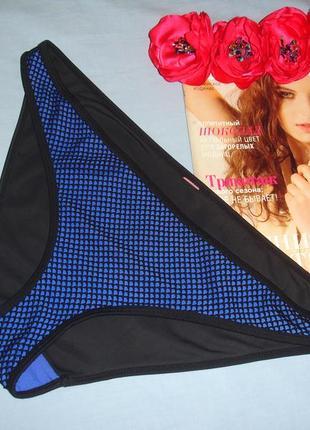 Низ от купальника раздельного трусики женские плавки размер 50 / 16 черные синие с сеткой