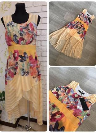 Нежное платье с цветами, размеры s m l xl