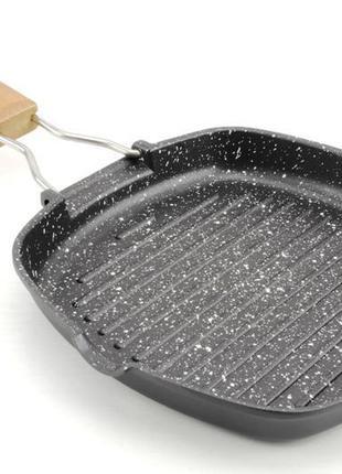 Сковорода-гриль с гранитным покрытием. а-плюс. 20 см.