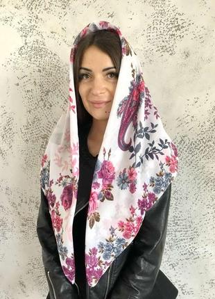 """Платок шарф хлопковый турецкий """"лейла"""" 329012"""