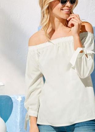 Блуза на плечи в стиле кармен s 36, l 40 euro, esmara, германия