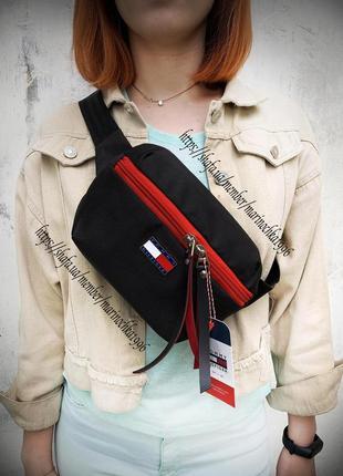 Новая очень крутая стильная качественная бананка сумка на пояс tommy /через плечо / клатч