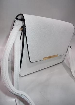 Клатч, сумка через плечо кросс-боди белая №3928