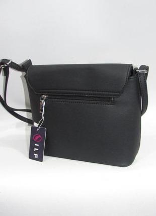 Клатч, сумка через плечо кросс-боди №663 black2 фото
