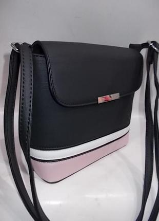 Клатч, сумка через плечо кросс-боди №663 black3 фото