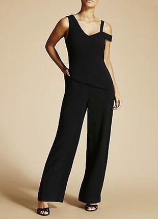Fenn wright manson чёрный классический комбинезон брючный ассиметрия брюки свободные