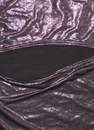 Платье с металлическим отливом на одно плечо boohoo7 фото