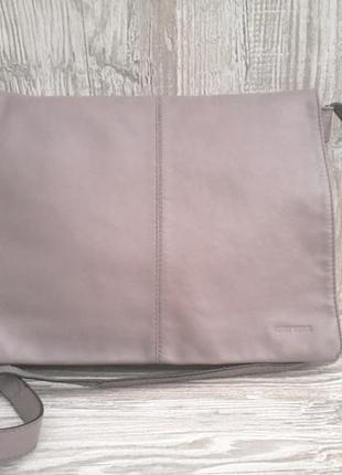 Большая брендовая кожаная сумка- кроссбоди gerry weber