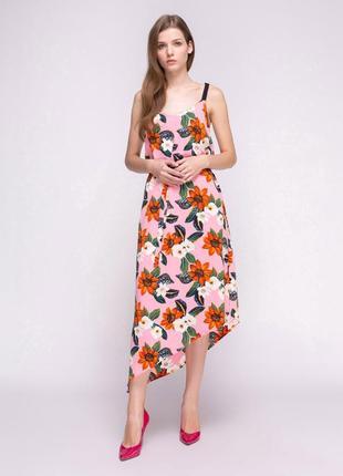 Платье-сарафан в цветочный принт new look