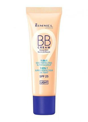 Тональная крем bb-крем rimmel bb cream 9in1 skin perfecting super makeup spf25