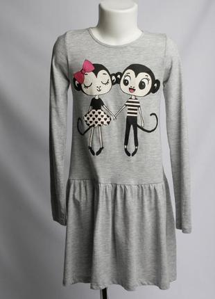 Платье с милыми обезьянками