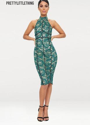 Новое кружевное миди платье prettylittlething