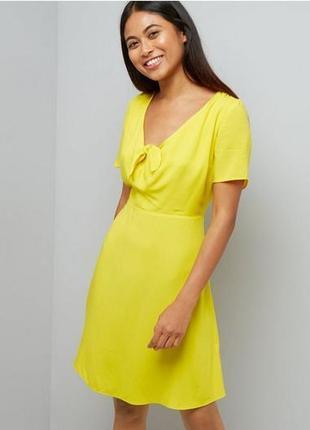 Желтое платье new look