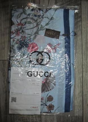 Gucci эксклюзивный шелковый палантин р.180х90см.