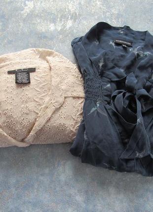 Блузы из натурального шелка р.14 xl . две по цене одной!
