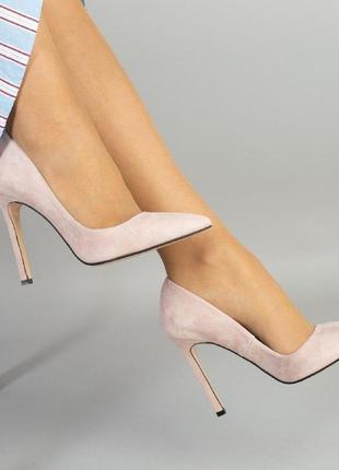 Шикарные туфли лодочки цвет пудра