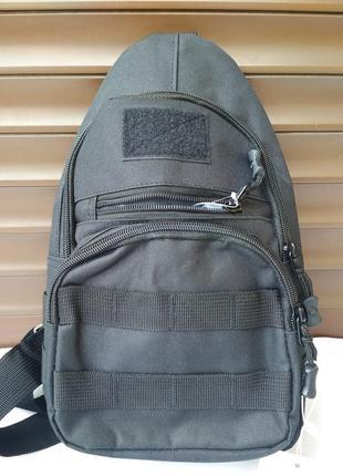Мужская сумка слинг тканевая