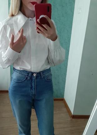 Шикарная хлопковая белая ,біла рубашка , сорочка оригинал3 фото