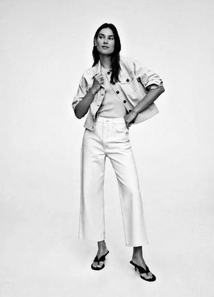 Брендовые топовые белые широкие штаны брюки палаццо джинсы mango большой размер батал