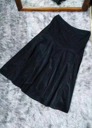 Вельветовая юбка миди расклешенного силуэта la redoute