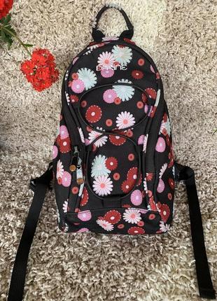 Рюкзак городской с цветами