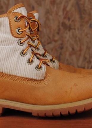 Коричневые кожаные ботинки timberland, 38 размер. оригинал