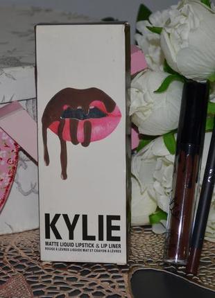 Фирменный набор для губ kylie cosmetics lip kit true brown k