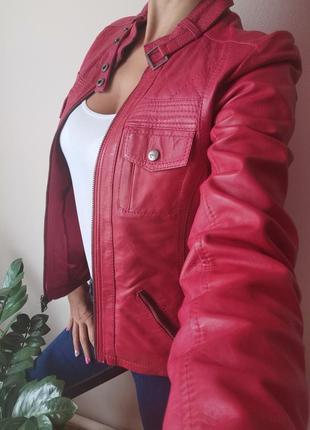 Куртка новая демисезонная шкірянка кожаная косуха 36,38