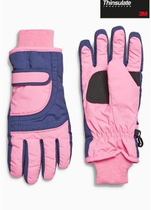 Thinsulate перчатки лыжные.  9-13 лет
