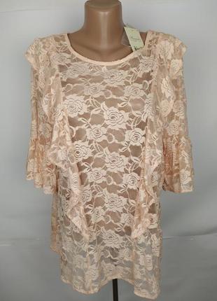 Блуза красивая гипюровая кружевная новая uk 16/44/xl
