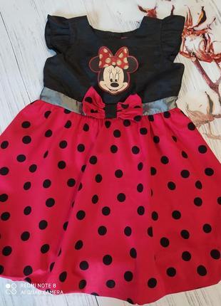 Платье с микки маусом на 3-4 года