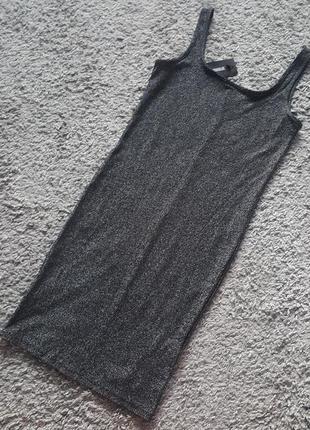 Оригинал.новое,фирменное,стильное,люрексовое,блестящее платье zara trf