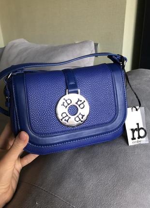 Новая брендовая синяя сумка сумочка roccobarocco{оригинал}, karl lagerfeld, michael kors