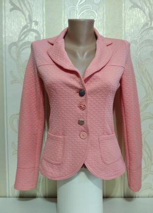 Пиджак жакет женский приталенный фактурный удобный, италия