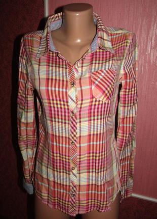 Рубашка в клетку девушке подростку h&m